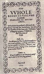 The Bay Psalm Book